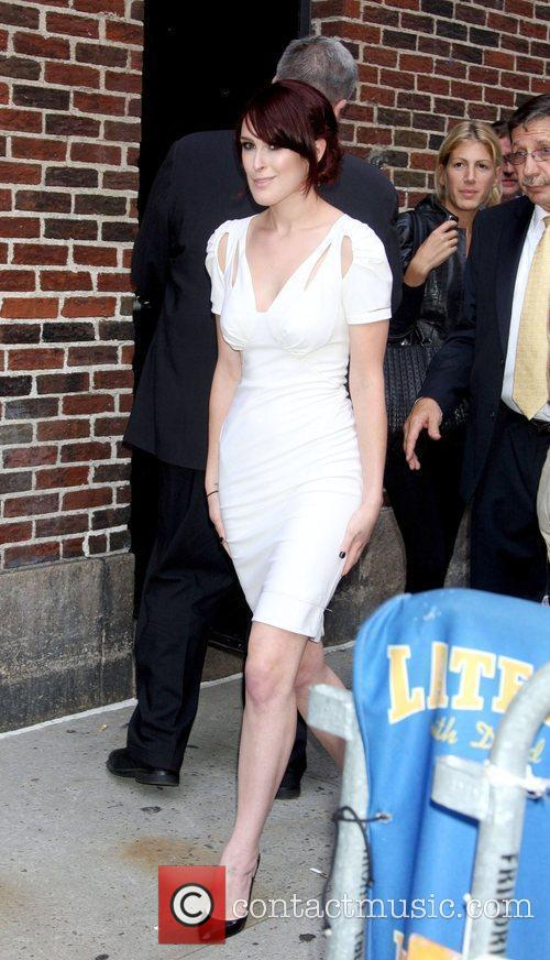Rumer Willis and David Letterman 4