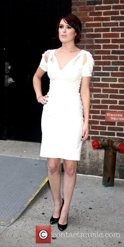 Rumer Willis and David Letterman 9