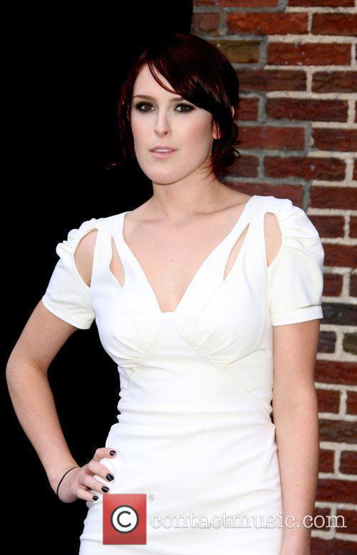 Rumer Willis and David Letterman 5