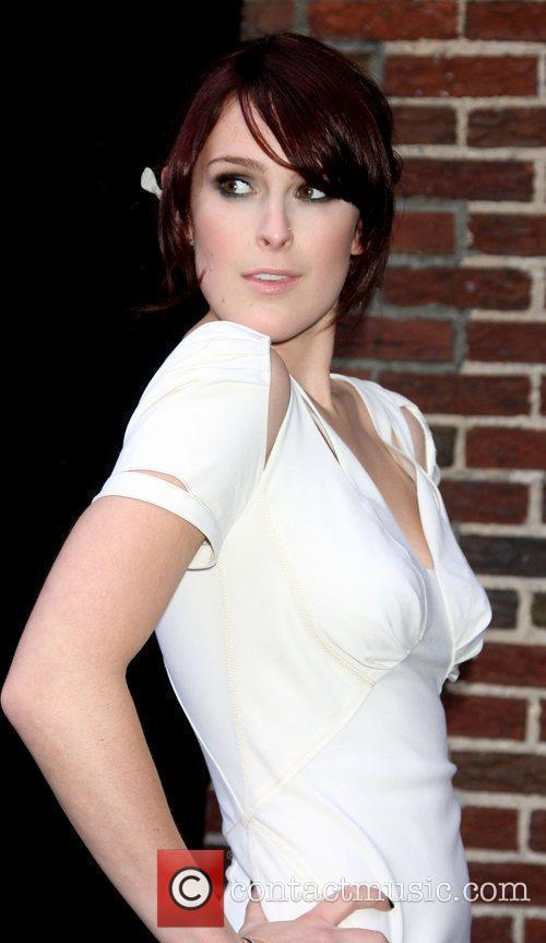 Rumer Willis and David Letterman 10