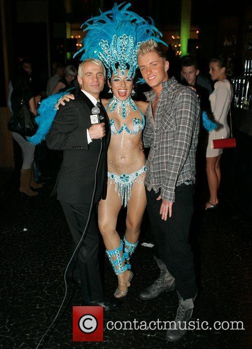 Julian Bennett & dancer at the launch party...