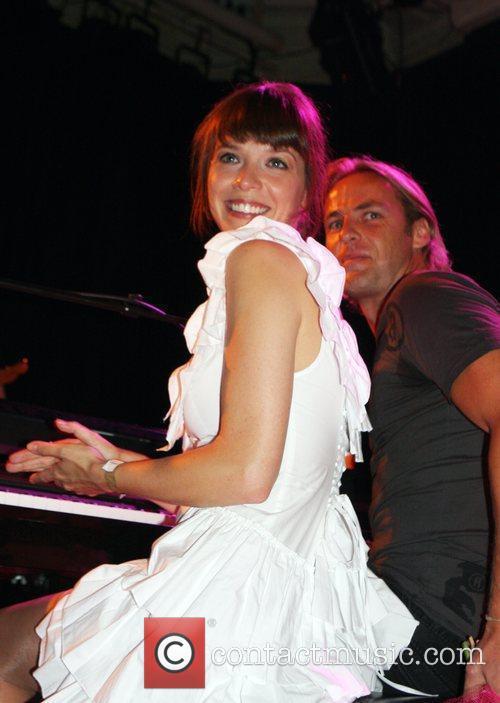 Dutch singer Laura Jansen performing live at her...