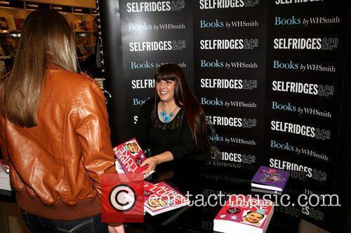 At Selfridges to sign copes of her book...