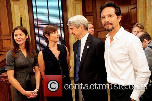 Jill Hennessy, Benjamin Bratt and Sam Waterston 1