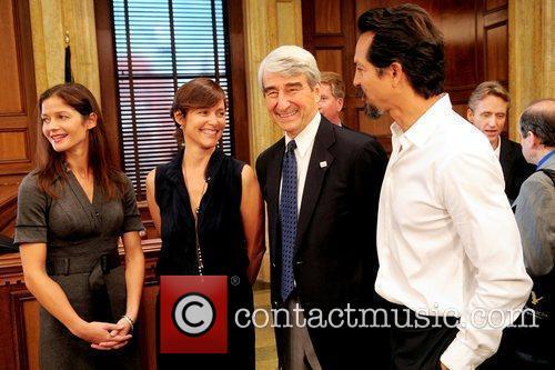Jill Hennessy, Benjamin Bratt and Sam Waterston 2
