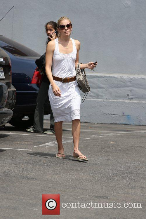 Leann Rimes, Wearing An All White Summer Dress and Makes Her Way To Brentwood Art Center 6