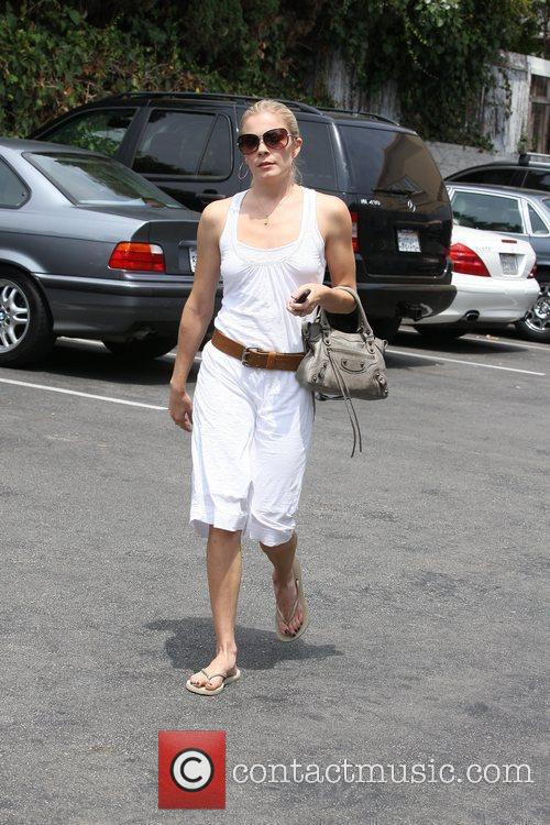 Leann Rimes, Wearing An All White Summer Dress and Makes Her Way To Brentwood Art Center 11
