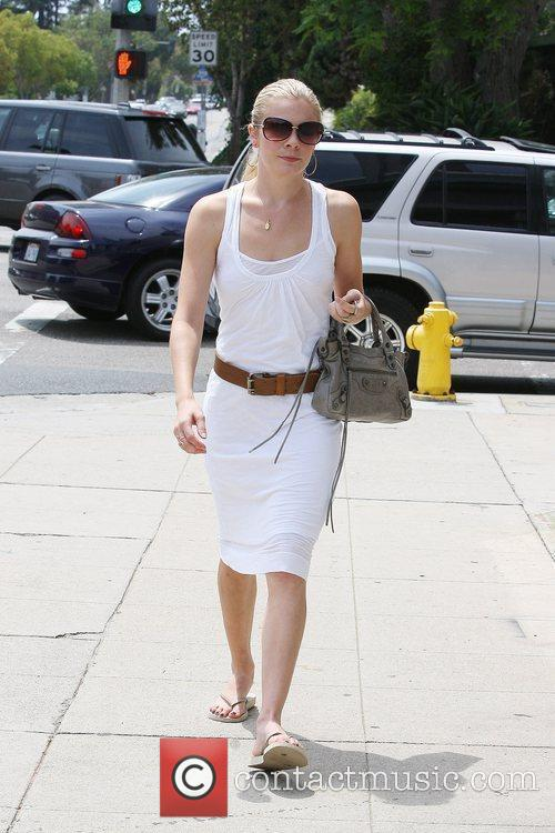 Leann Rimes, Wearing An All White Summer Dress and Makes Her Way To Brentwood Art Center 9