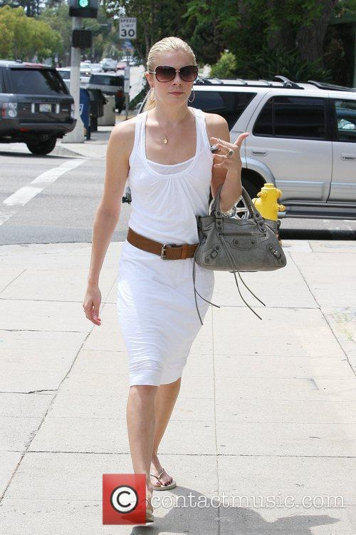 Leann Rimes, Wearing An All White Summer Dress and Makes Her Way To Brentwood Art Center 10
