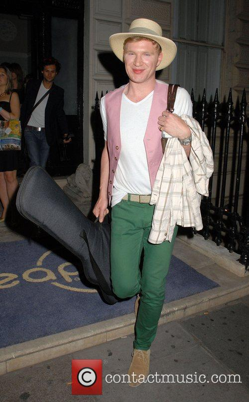 Henry Conway Outside the 'Leap Anywhere' launch party...