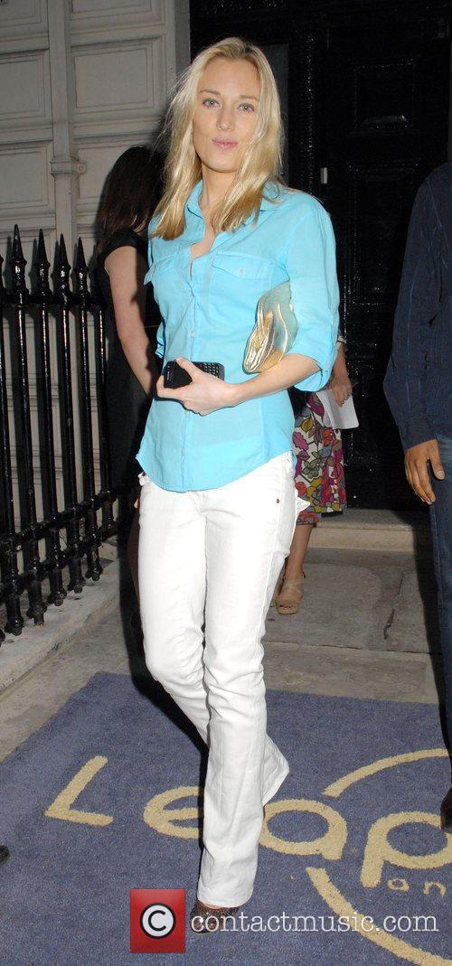 Imogen Lloyd Webber Outside the 'Leap Anywhere' launch...