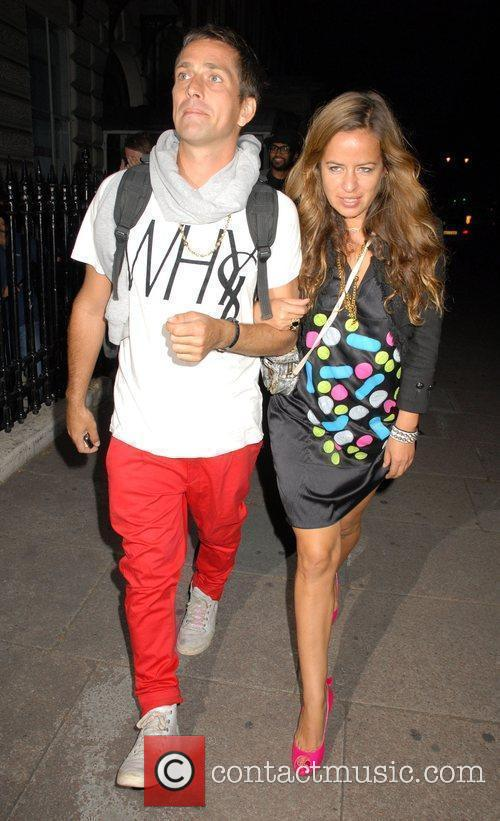 Jade Jagger and Dan Williams Outside the 'Leap...