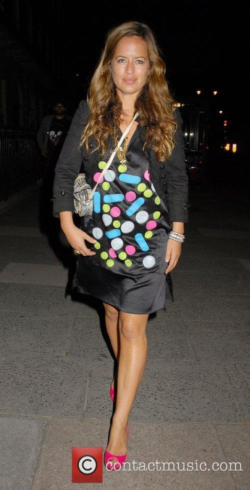 Jade Jagger Outside the 'Leap Anywhere' launch party...
