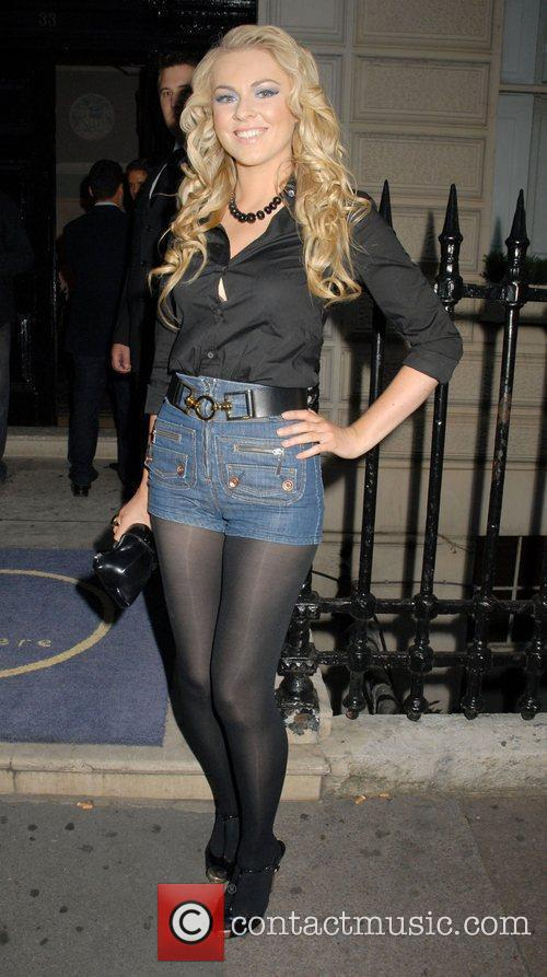 Zoe Salmon Outside the 'Leap Anywhere' launch party...