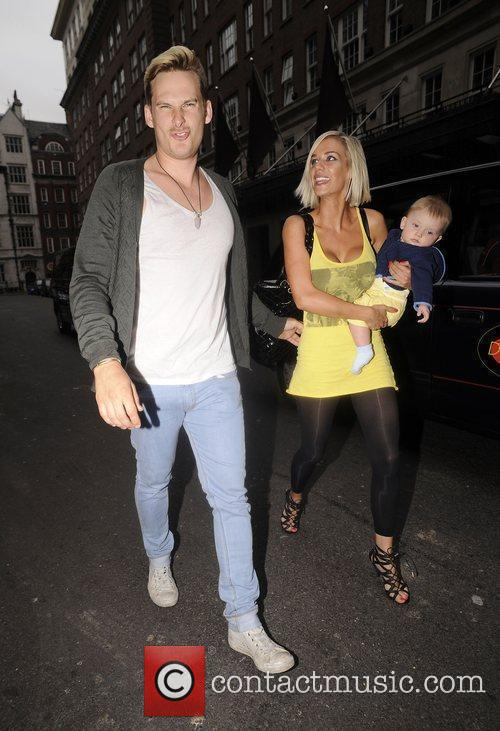 Lee Ryan, His Fiancee Samantha Miller Pull Faces At Photographers While Out and About With Their Son Rayn Amethyst Ryan 5