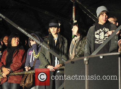 Alexa Chung watches the Arctic Monkeys The 2009...