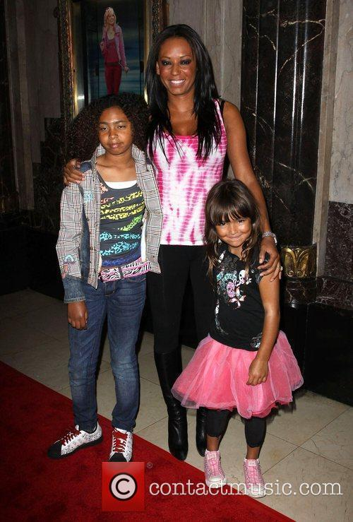 Melanie Brown with her daughters Phoenix Chi and...