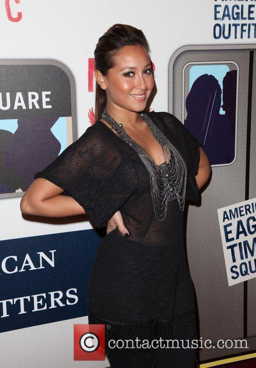 Adrienne Bailon  American Eagle Outfitters flagship store...