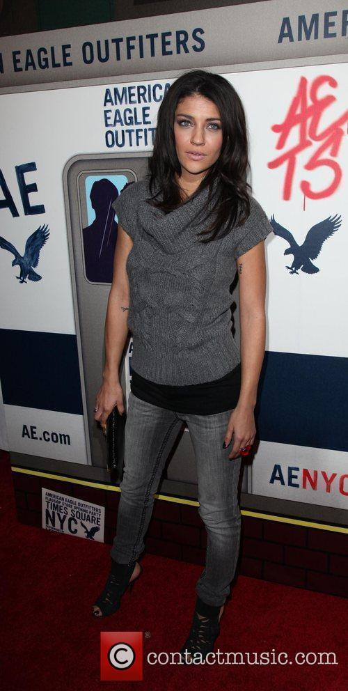 Jessica Szohr  American Eagle Outfitters flagship store...