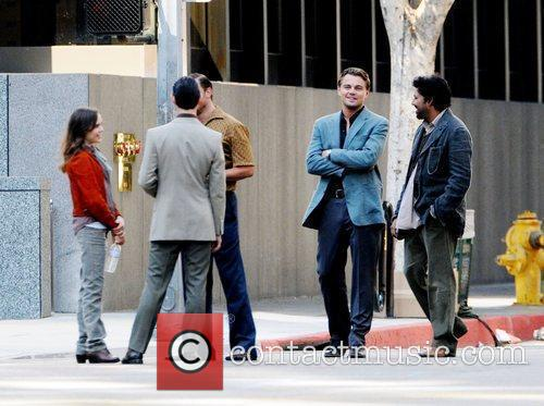 Leonardo Dicaprio and Ellen Page On The Film Set For Their New Film 'inception' On Location. 5
