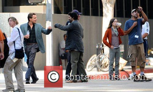 Leonardo Dicaprio and Ellen Page On The Film Set For Their New Film 'inception' On Location. 1