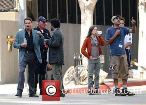 Leonardo Dicaprio and Ellen Page On The Film Set For Their New Film 'inception' On Location. 2