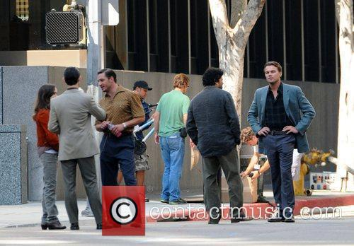 Leonardo DiCaprio, Ellen Page on the film set for their new film 'Inception' on location.