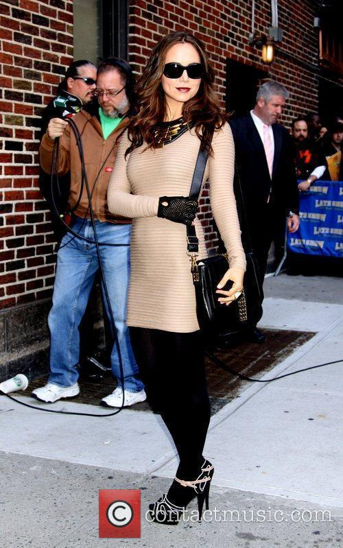 Eliza Dushku, David Letterman