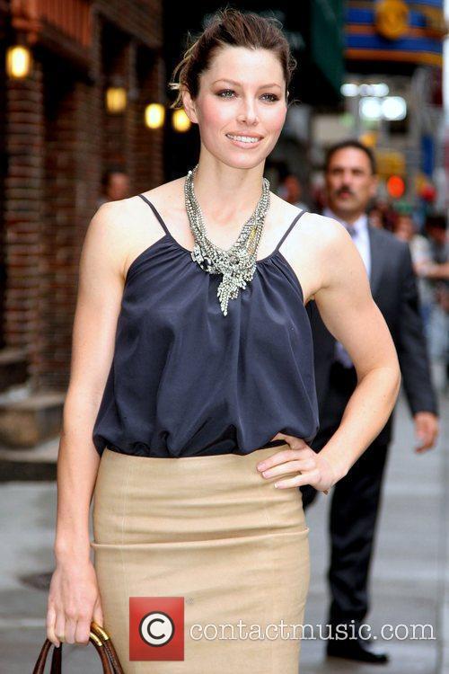 Jessica Biel, David Letterman, Ed Sullivan Theatre