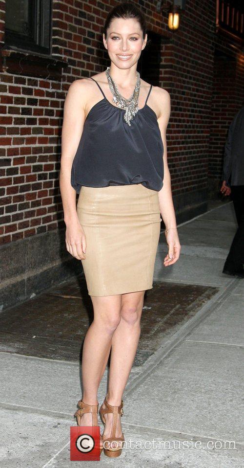 Jessica Biel and David Letterman 17