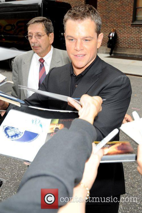 Matt Damon and David Letterman 2