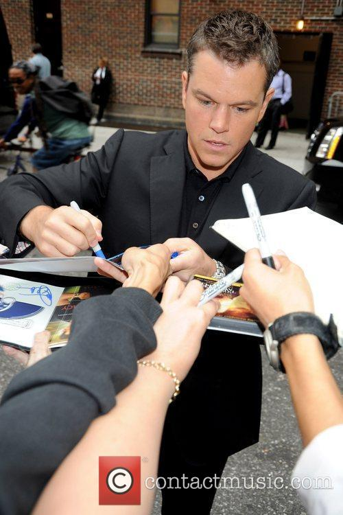 Matt Damon and David Letterman 4