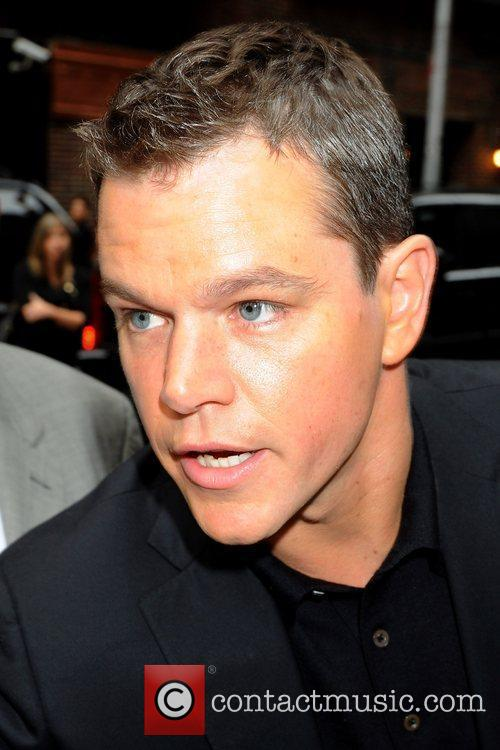 Matt Damon and David Letterman 3