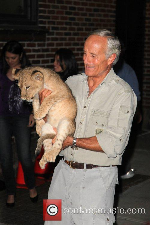 Jack Hanna outside the Ed Sullivan Theater for...