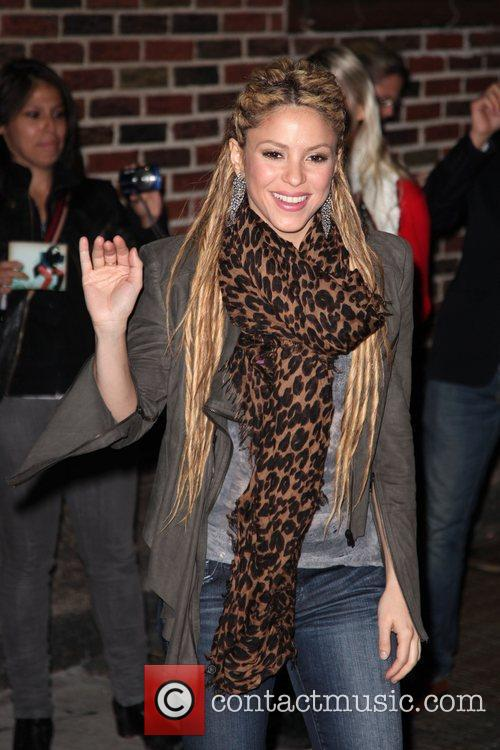 Shakira outside the Ed Sullivan Theater for the...