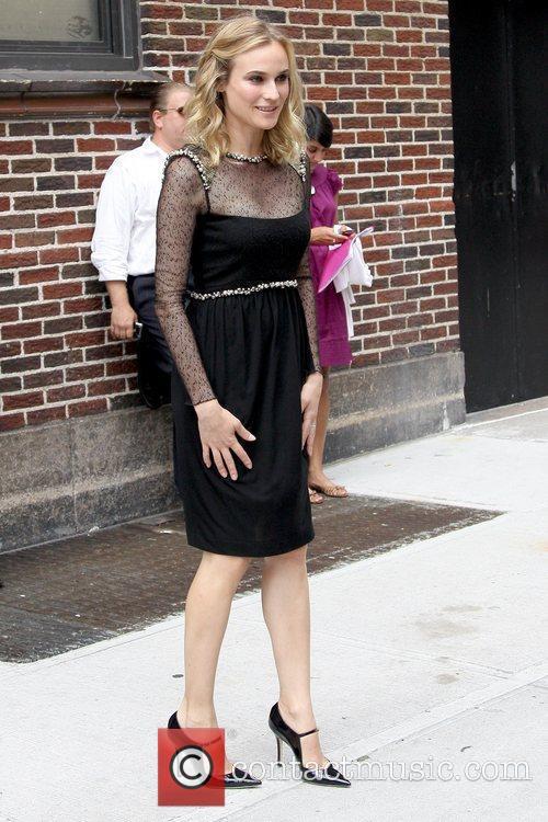 Diane Kruger and David Letterman 2