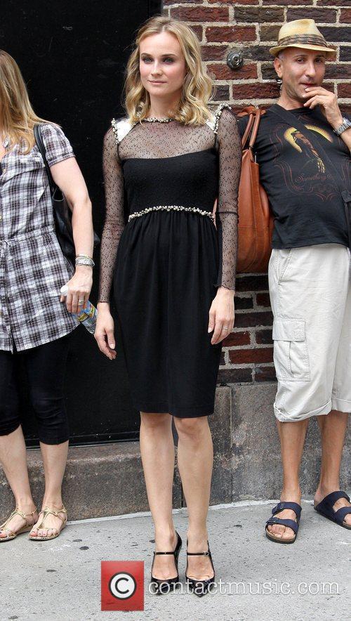 Diane Kruger and David Letterman 1