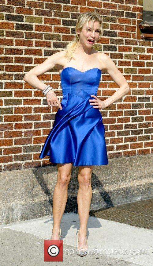 Renee Zellweger and David Letterman 13