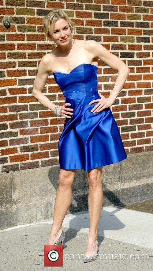 Renee Zellweger and David Letterman 16