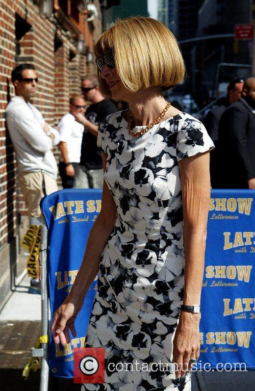 Anna Wintour and David Letterman 12