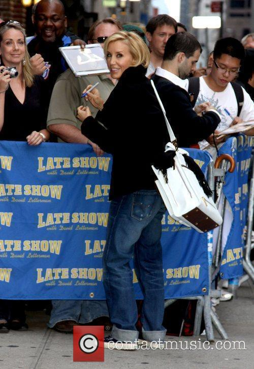 Felicity Huffman and David Letterman 12