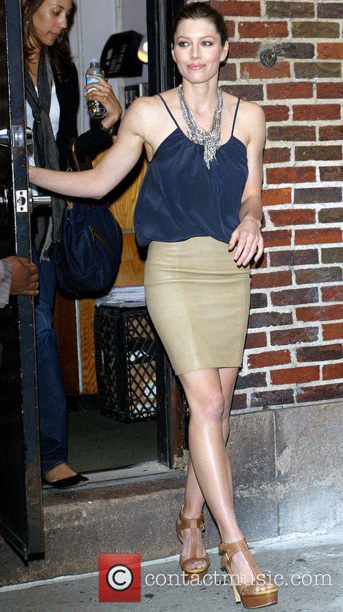 Jessica Biel and David Letterman 10