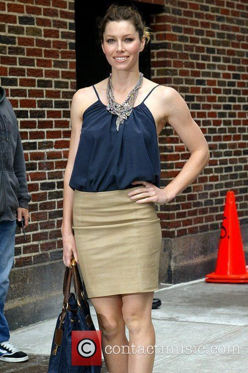 Jessica Biel and David Letterman 11