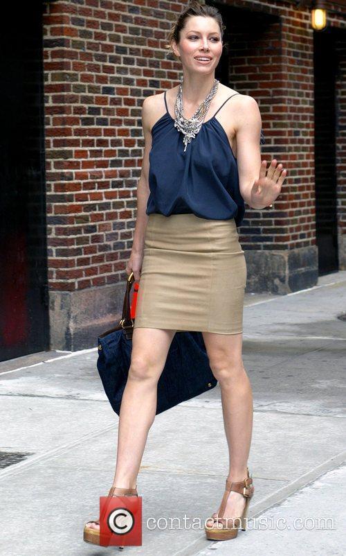 Jessica Biel and David Letterman 12