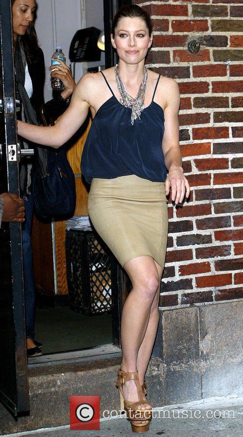 Jessica Biel and David Letterman 2