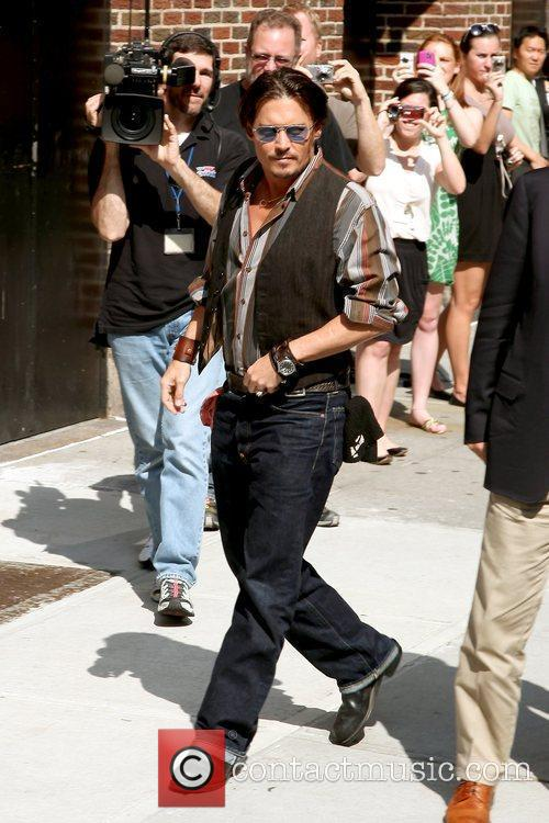 Johnny Depp and David Letterman 2