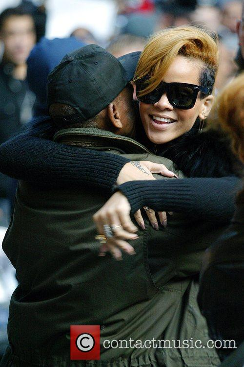 Rihanna and David Letterman 13