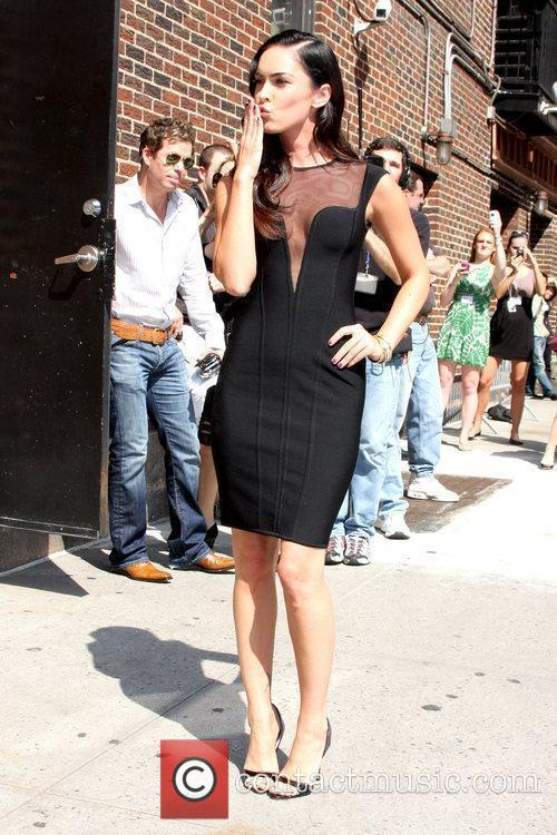 Megan Fox and David Letterman 11
