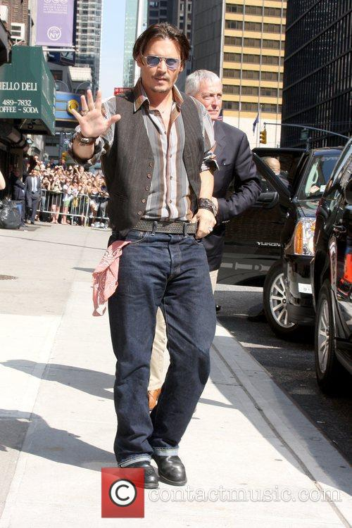 Johnny Depp and David Letterman 1
