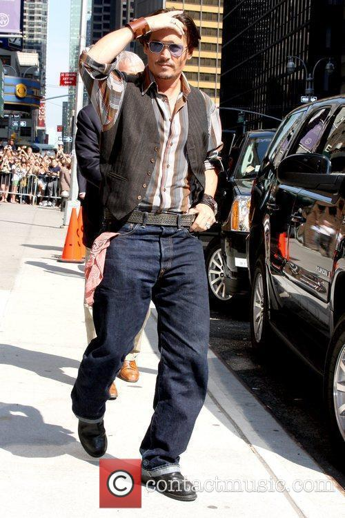 Johnny Depp and David Letterman 8